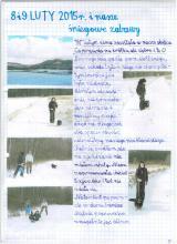 3) Nasze śniegowe zabawy - 8-9 styczeń .